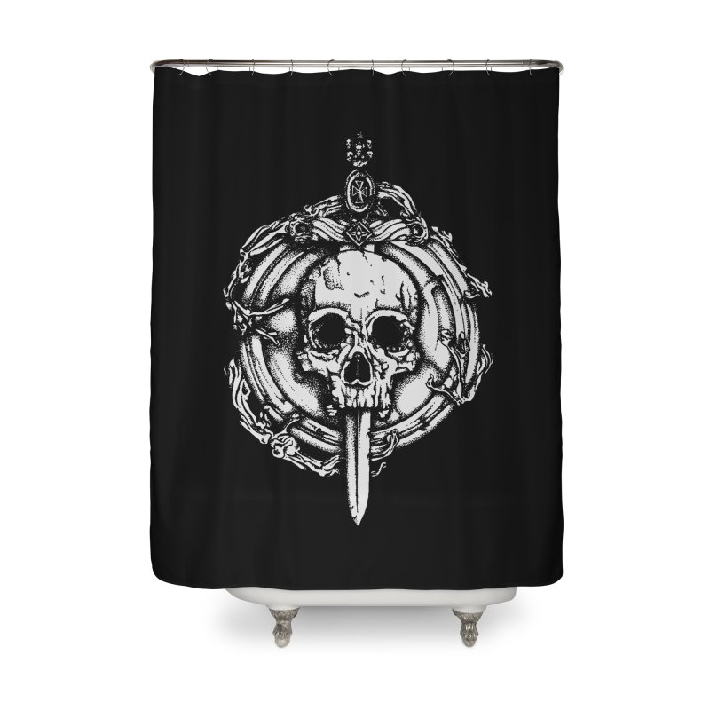 Bishop skull Home Shower Curtain by juliusllopis's Artist Shop