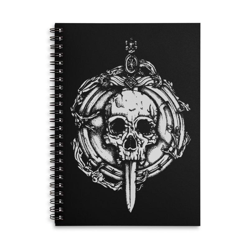 Bishop skull Accessories Lined Spiral Notebook by juliusllopis's Artist Shop