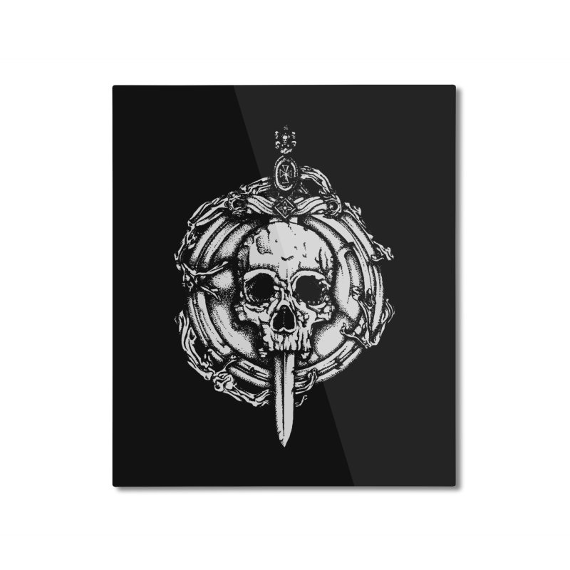 Bishop skull Home Mounted Aluminum Print by juliusllopis's Artist Shop