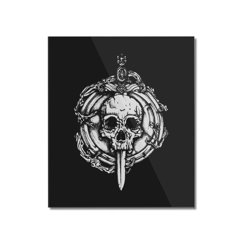Bishop skull Home Mounted Acrylic Print by juliusllopis's Artist Shop