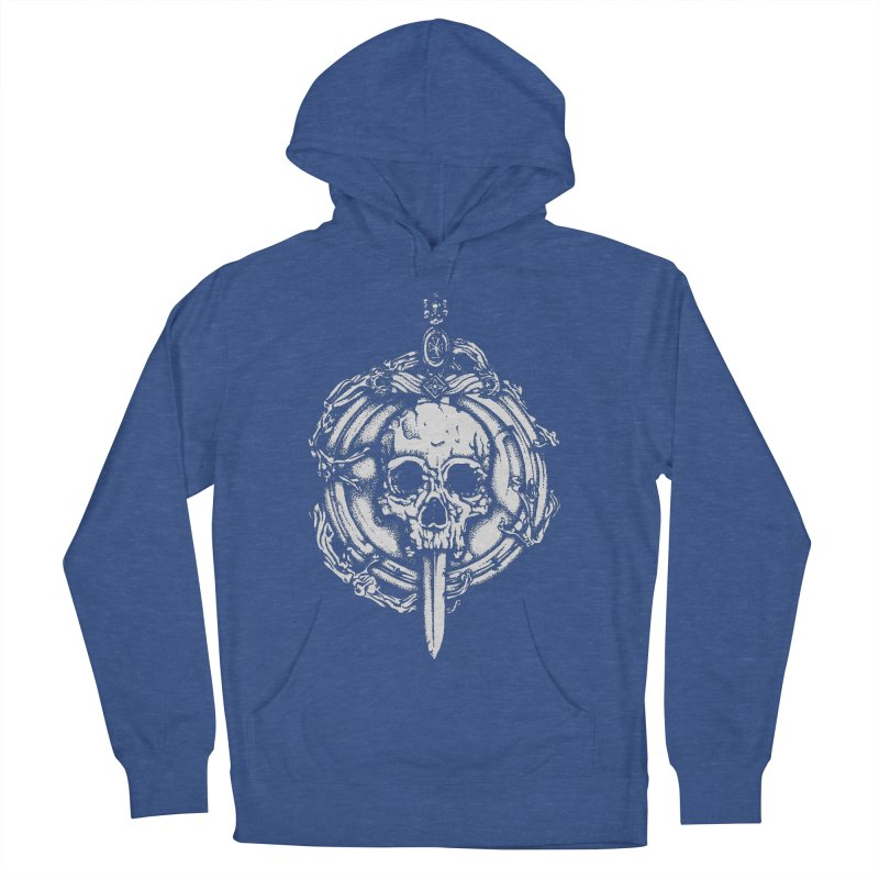 Bishop skull Men's French Terry Pullover Hoody by juliusllopis's Artist Shop