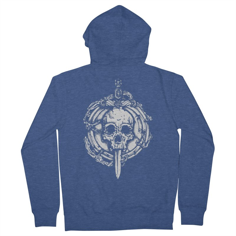 Bishop skull Women's French Terry Zip-Up Hoody by juliusllopis's Artist Shop