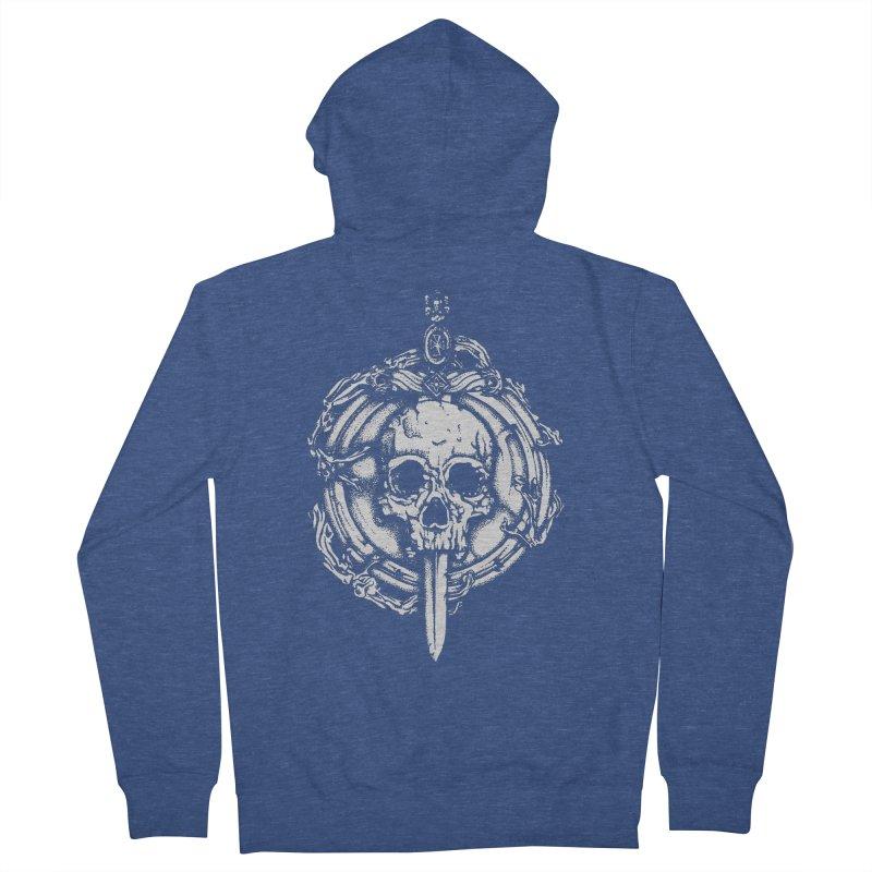 Bishop skull Men's French Terry Zip-Up Hoody by juliusllopis's Artist Shop