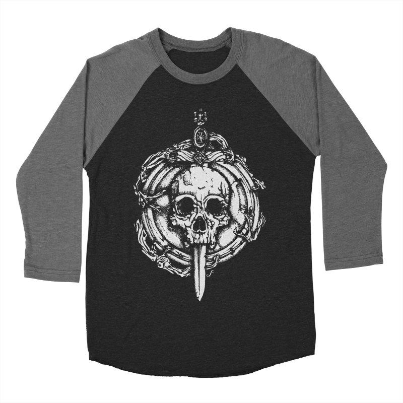 Bishop skull Men's Baseball Triblend Longsleeve T-Shirt by juliusllopis's Artist Shop