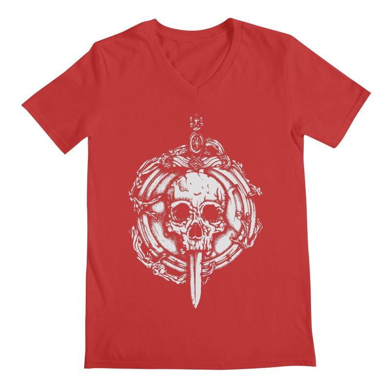 Bishop skull Men's Regular V-Neck by juliusllopis's Artist Shop