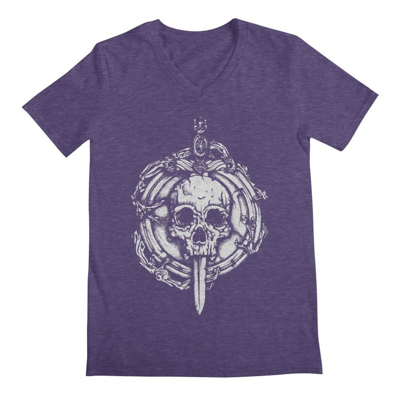 Bishop skull Men's Regular V-Neck by juliusllopis's Artist Shop