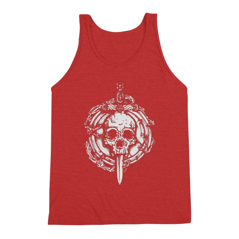 Bishop skull Men's Triblend Tank by juliusllopis's Artist Shop