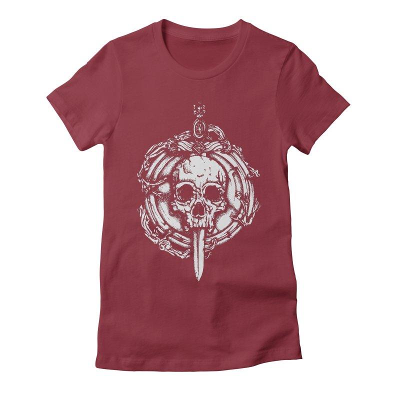 Bishop skull Women's Fitted T-Shirt by juliusllopis's Artist Shop