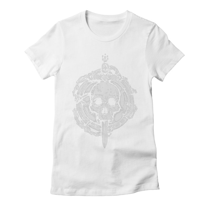 Bishop skull Women's Fitted T-Shirt by juliusllopis's Artist Shop