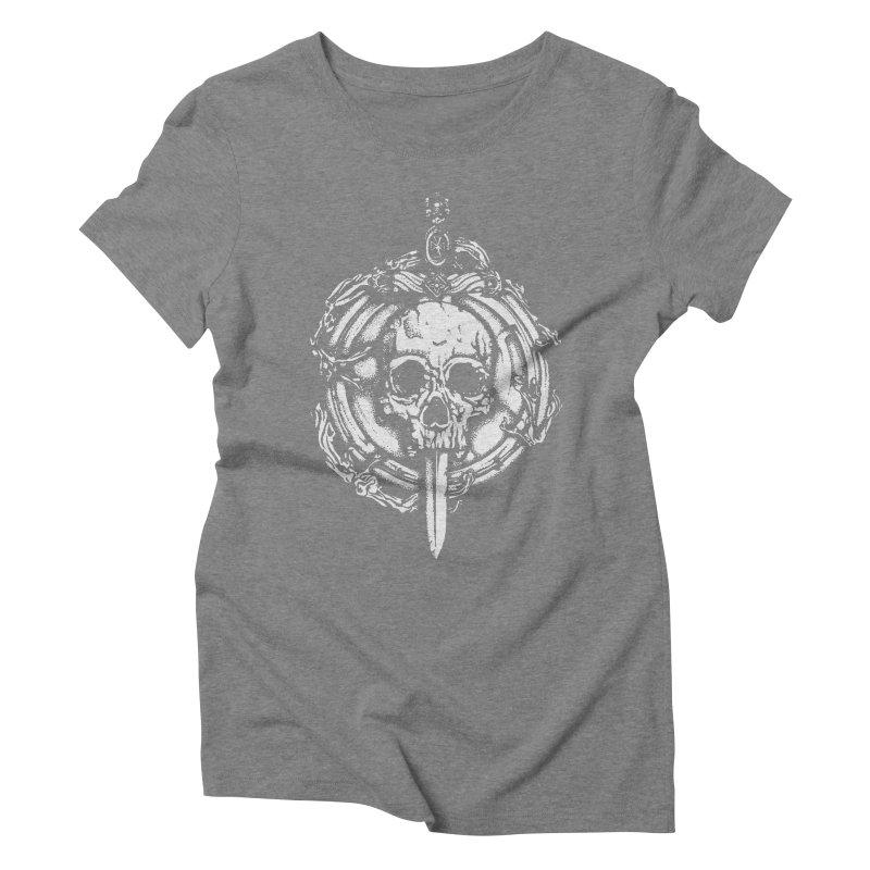 Bishop skull Women's Triblend T-Shirt by juliusllopis's Artist Shop