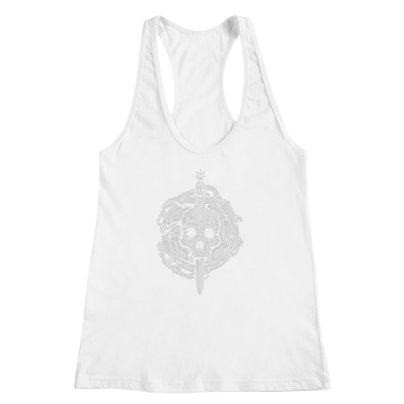 Bishop skull Women's Racerback Tank by juliusllopis's Artist Shop