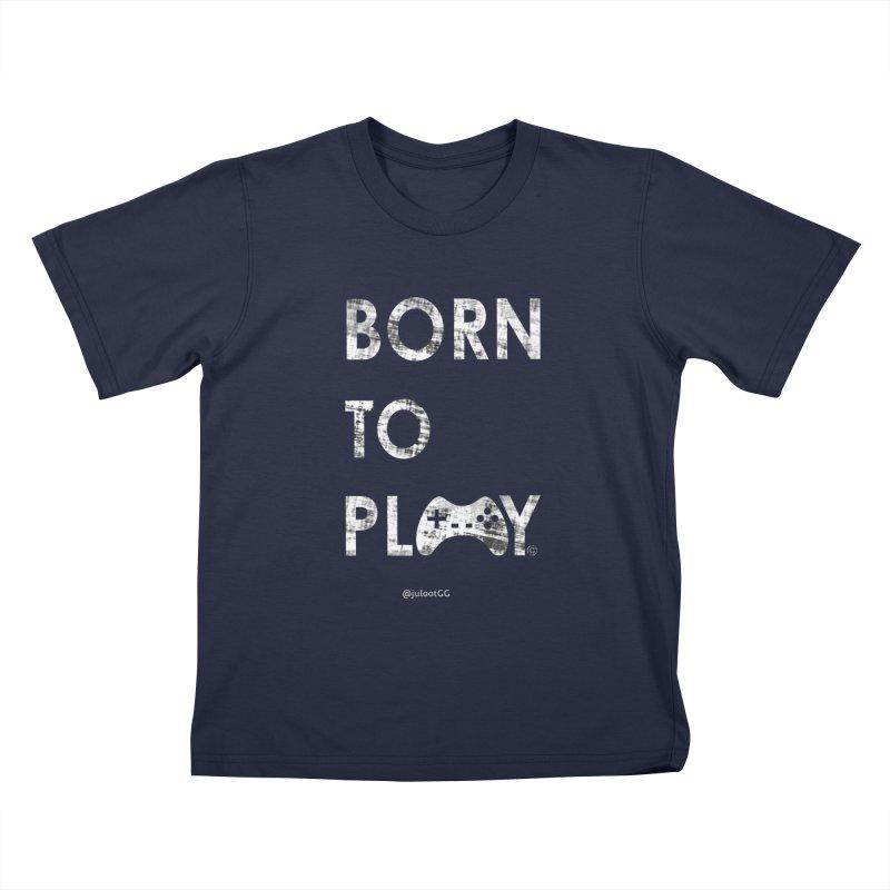 Born to Play אנחנו דור הגיימינג, נולדנו לשחק Kids T-Shirt by GamingBarosh גיימינג בראש