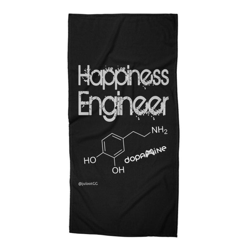 Happiness Engineer מהנדס.ת אושר Accessories Beach Towel by GamingBarosh גיימינג בראש