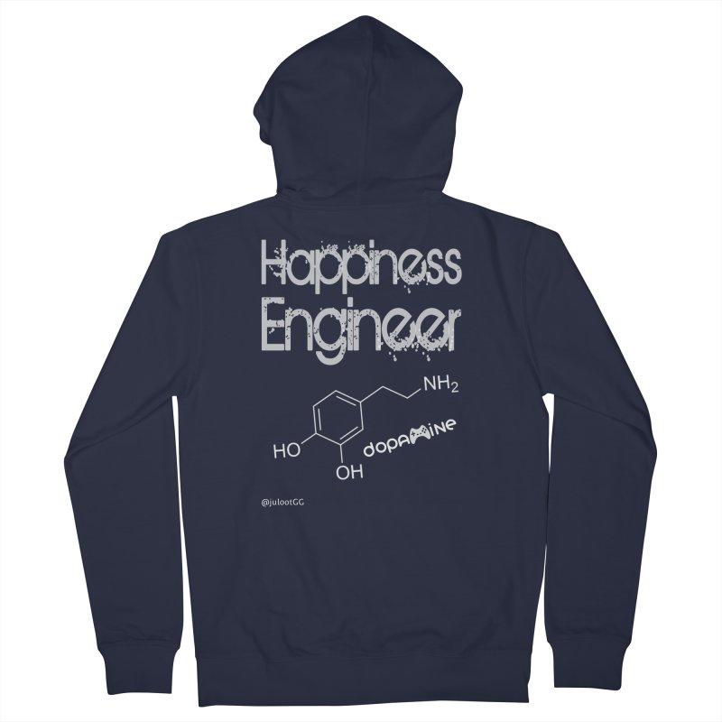 Happiness Engineer מהנדס.ת אושר Women's Zip-Up Hoody by GamingBarosh גיימינג בראש