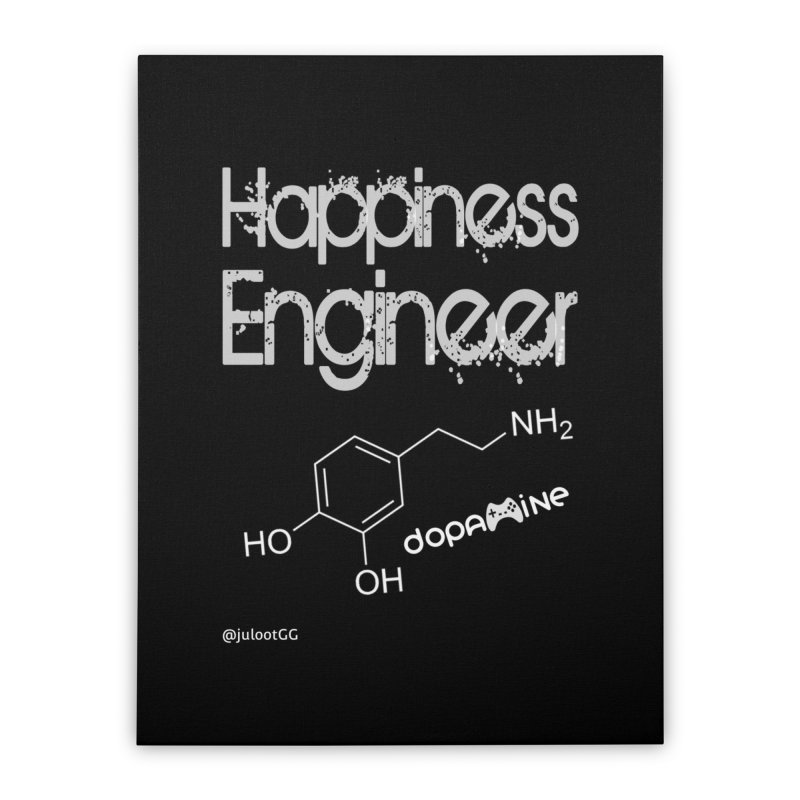 Happiness Engineer מהנדס.ת אושר Home Stretched Canvas by GamingBarosh גיימינג בראש