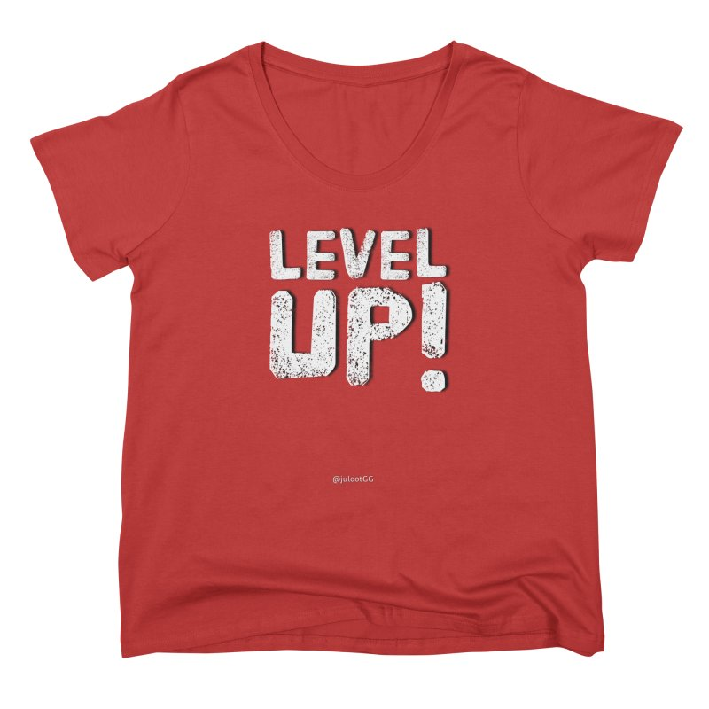 LEVEL-UP! גיימר.ית Women's Scoop Neck by GamingBarosh גיימינג בראש