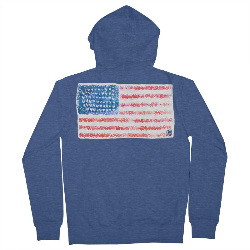 FOR THE PATRIOTS Women's Zip-Up Hoody by Jucel Meneses