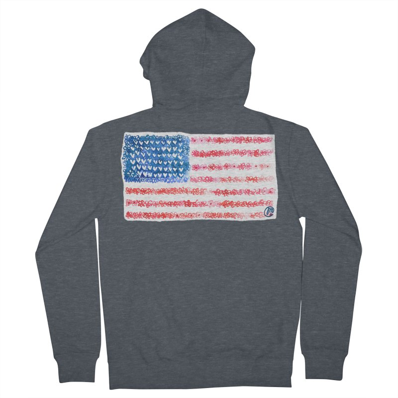 FOR THE PATRIOTS Men's Zip-Up Hoody by Jucel Meneses