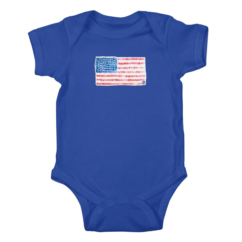FOR THE PATRIOTS Kids Baby Bodysuit by Jucel Meneses