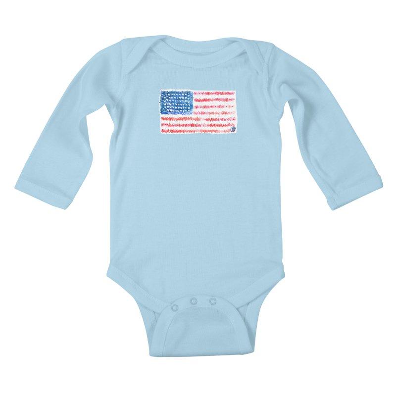 FOR THE PATRIOTS Kids Baby Longsleeve Bodysuit by Jucel Meneses