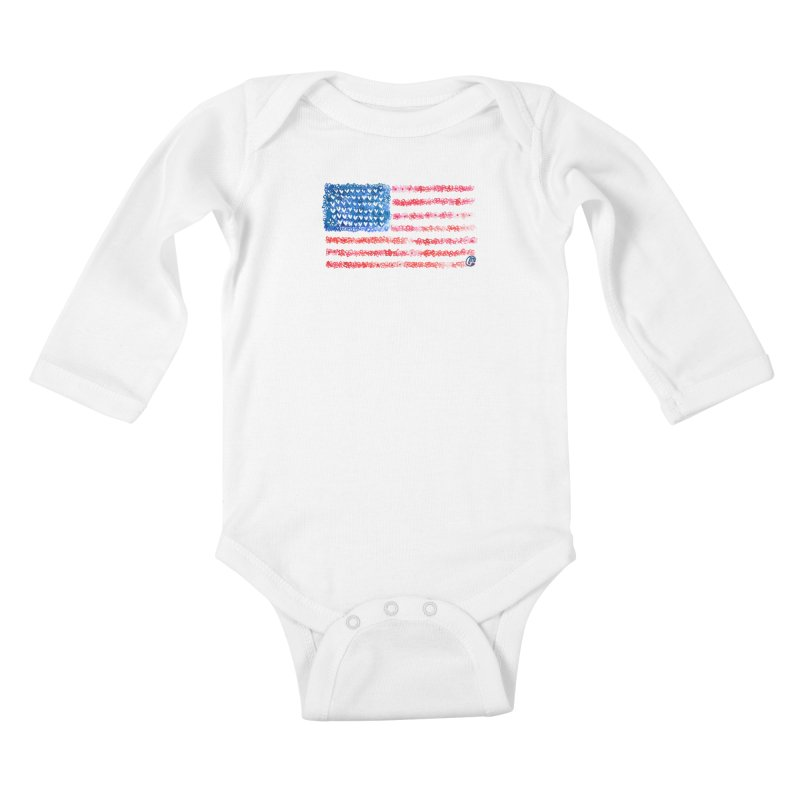 FOR THE PATRIOTS Kids Baby Longsleeve Bodysuit by Jucel Meneses
