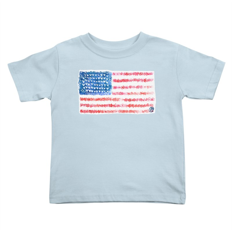 FOR THE PATRIOTS Kids Toddler T-Shirt by Jucel Meneses