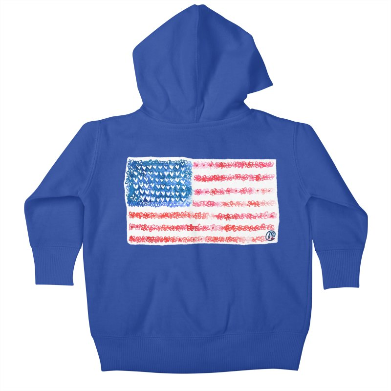 FOR THE PATRIOTS Kids Baby Zip-Up Hoody by Jucel Meneses