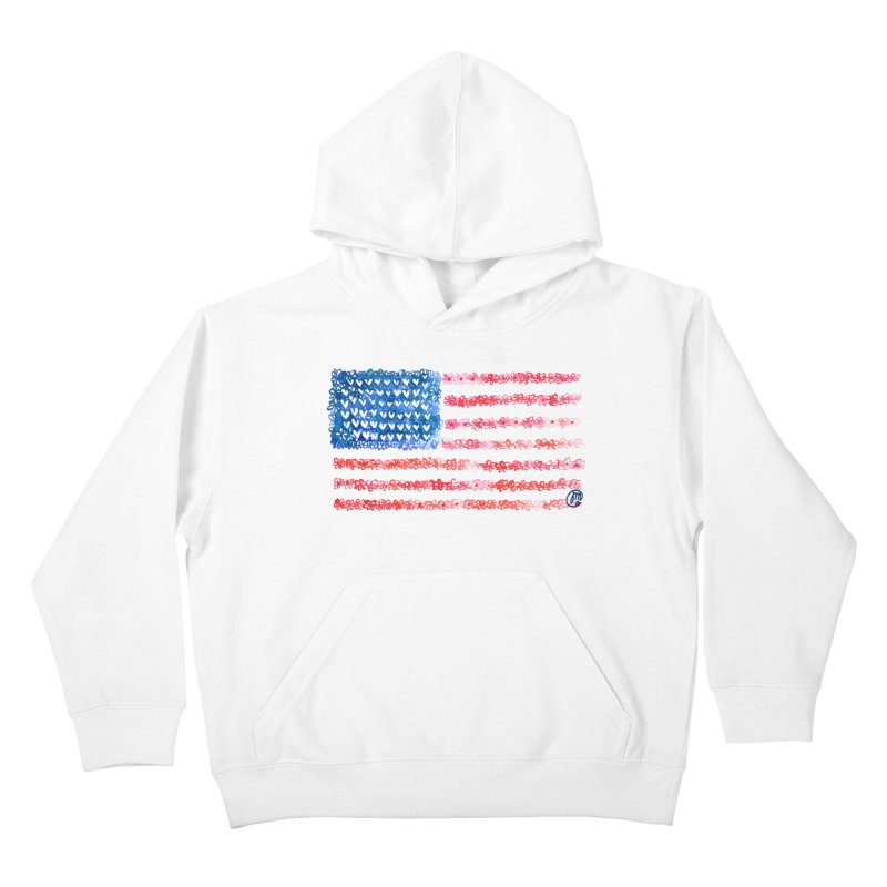 FOR THE PATRIOTS Kids Pullover Hoody by Jucel Meneses