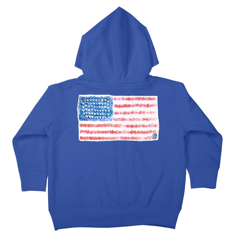 FOR THE PATRIOTS Kids Toddler Zip-Up Hoody by Jucel Meneses