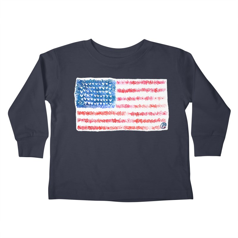 FOR THE PATRIOTS Kids Toddler Longsleeve T-Shirt by Jucel Meneses
