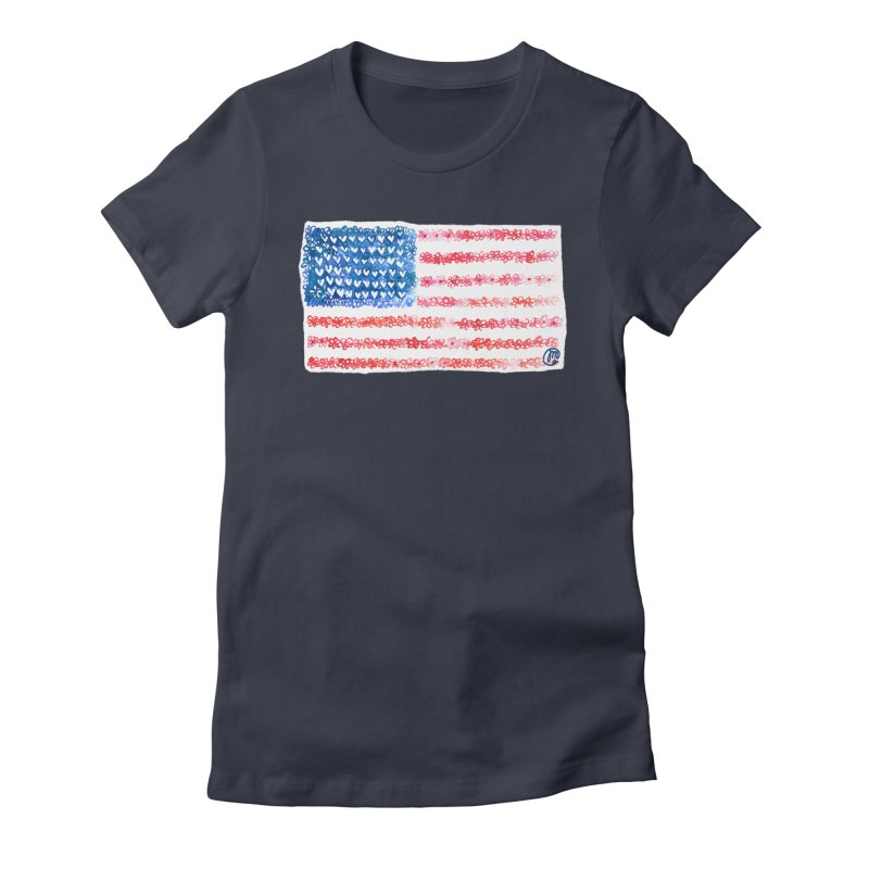 FOR THE PATRIOTS Women's Fitted T-Shirt by Jucel Meneses