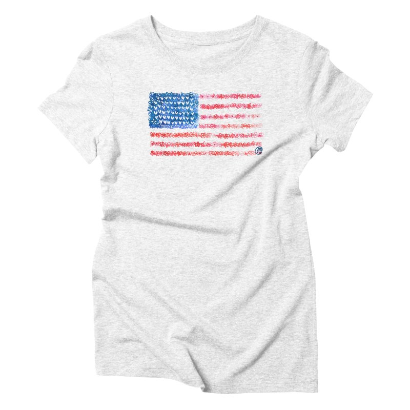 FOR THE PATRIOTS Women's Triblend T-shirt by Jucel Meneses