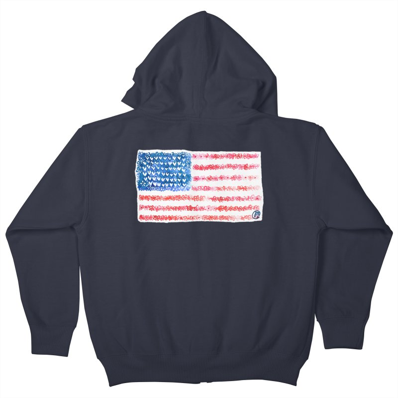 FOR THE PATRIOTS Kids Zip-Up Hoody by Jucel Meneses