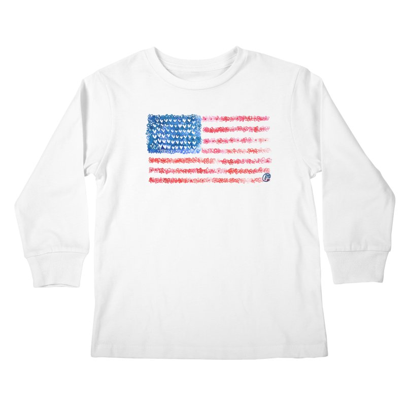 FOR THE PATRIOTS Kids Longsleeve T-Shirt by Jucel Meneses