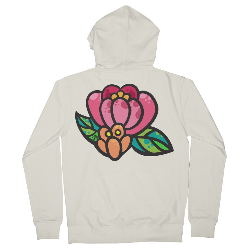 Sea Flower Men's Zip-Up Hoody by Jucel Meneses