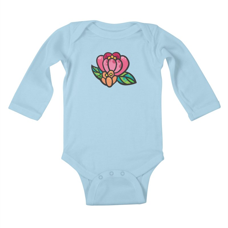 Sea Flower Kids Baby Longsleeve Bodysuit by Jucel Meneses