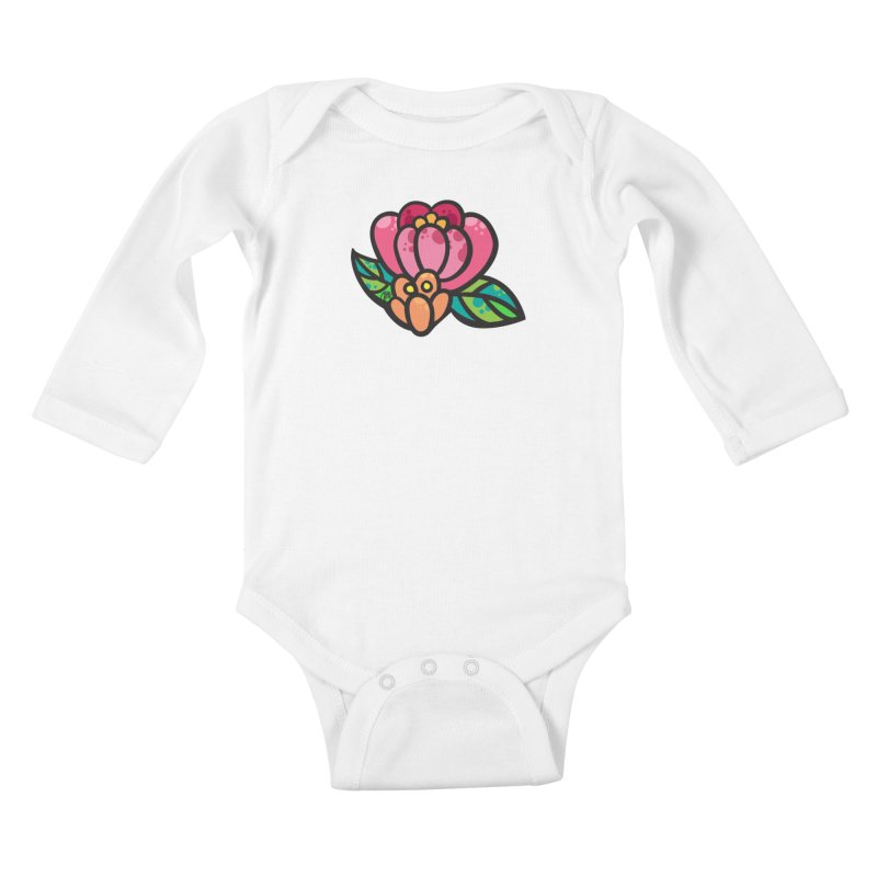 Sea Flower Kids Baby Longsleeve Bodysuit by Jucel Meneses
