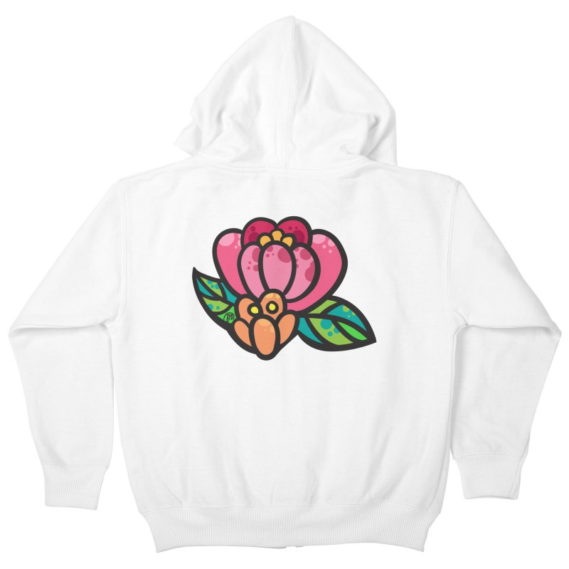 Sea Flower Kids Zip-Up Hoody by Jucel Meneses