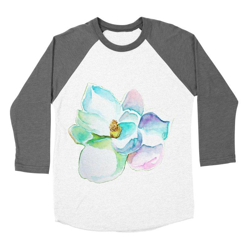Water Magnolia Women's Baseball Triblend T-Shirt by Jucel Meneses
