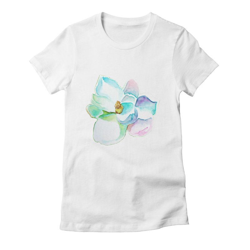 Water Magnolia Women's Fitted T-Shirt by Jucel Meneses