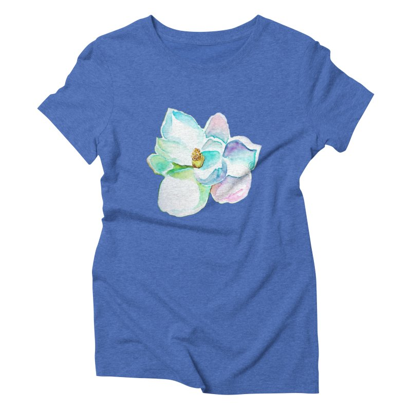 Water Magnolia Women's Triblend T-Shirt by Jucel Meneses