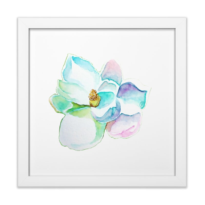Water Magnolia Home Framed Fine Art Print by Jucel Meneses