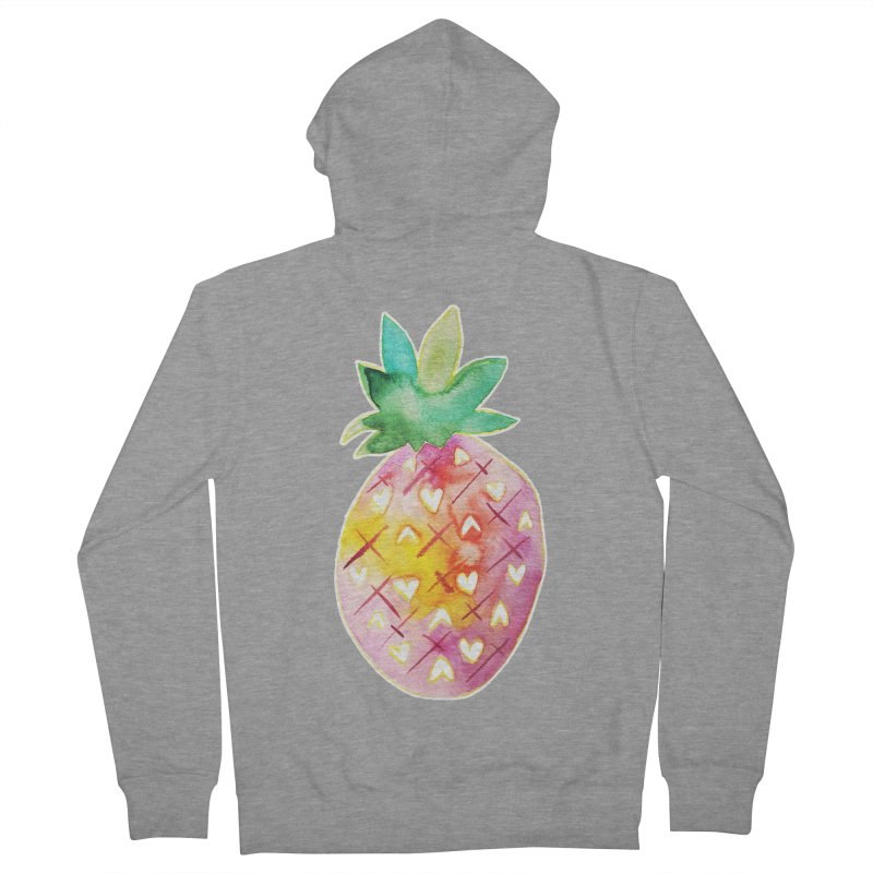 Sweet pineapple Women's Zip-Up Hoody by Jucel Meneses