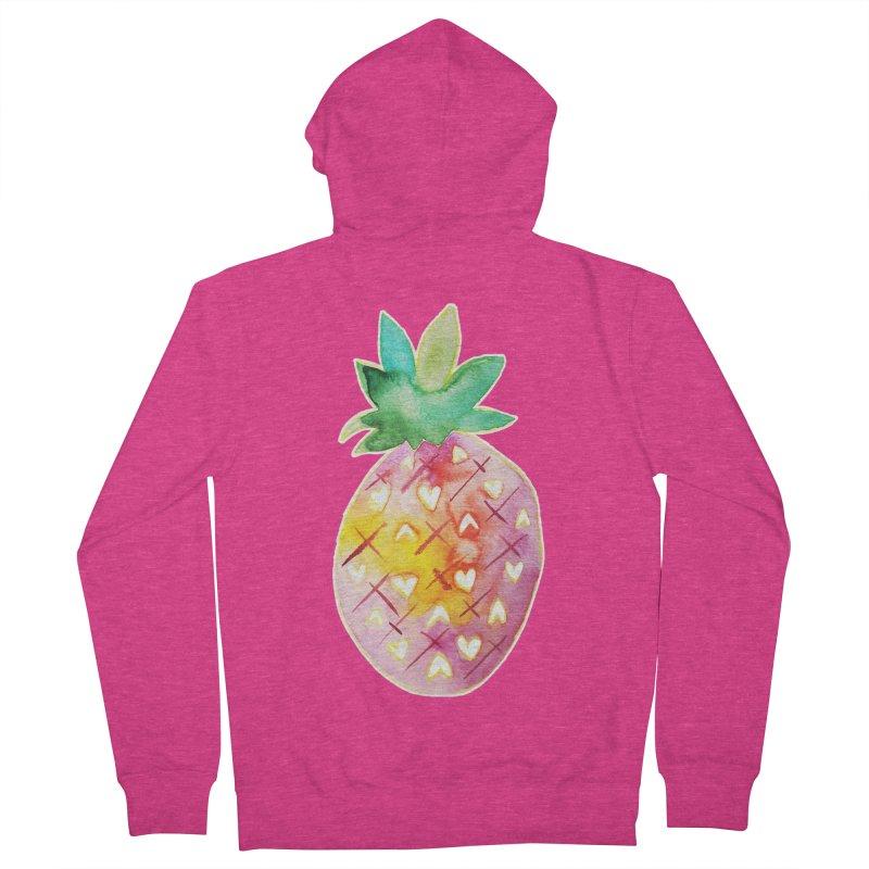 Sweet pineapple Women's Zip-Up Hoody by Jucel Meneses