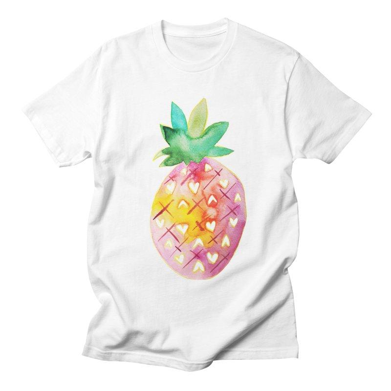 Sweet pineapple Women's Unisex T-Shirt by Jucel Meneses
