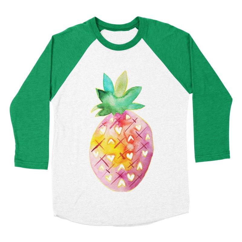 Sweet pineapple Women's Baseball Triblend T-Shirt by Jucel Meneses