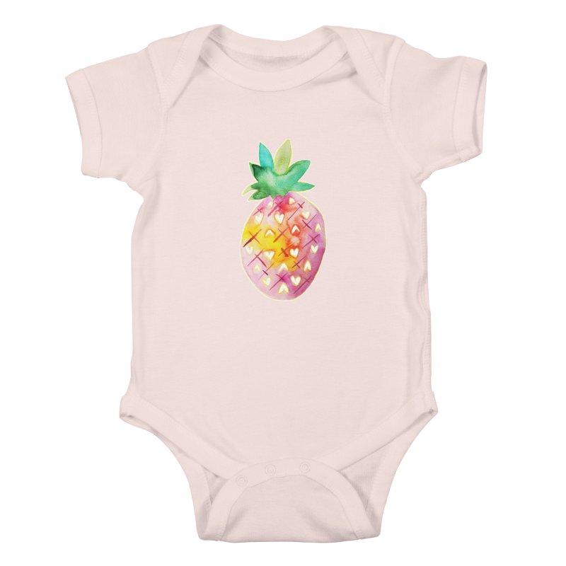 Sweet pineapple Kids Baby Bodysuit by Jucel Meneses
