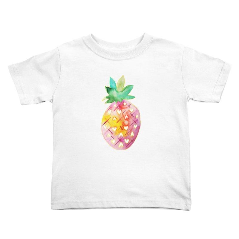 Sweet pineapple Kids Toddler T-Shirt by Jucel Meneses