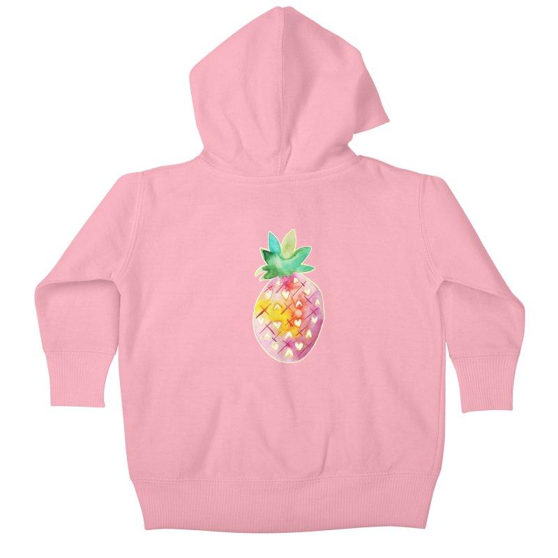 Sweet pineapple Kids Baby Zip-Up Hoody by Jucel Meneses