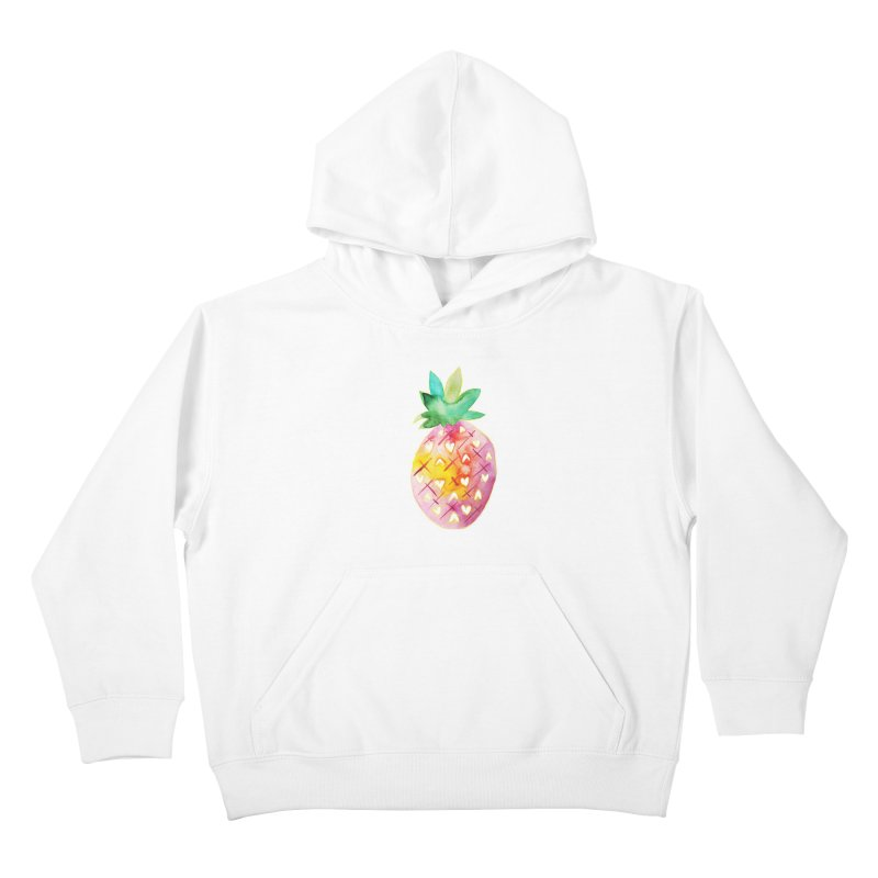 Sweet pineapple Kids Pullover Hoody by Jucel Meneses